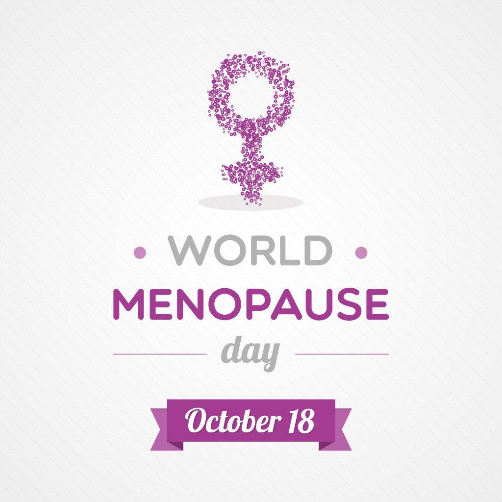 Dia Mundial da Menopausa - banner comemorativo.