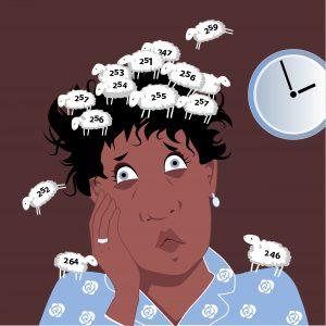 Mulher na perimenopausa com sintomas